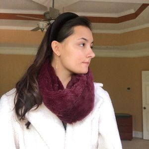 Charlotte Russe Burgundy faux fur Scarf Wrap